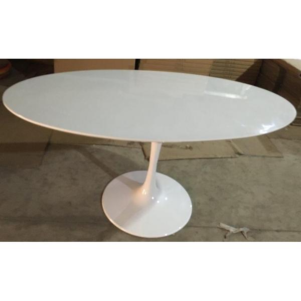 Tavolo Tondo Laccato Bianco.Tavolo Tulip Bianco Tondo Diam 80 Design Eero Saarinen Tavolino