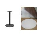 Marte RW - Tavolo con gamba in ferro (ghisa) e piano in werzalit 60x60,70x70..,diam.60, diam.70..cm