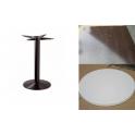Marte PRW - Tavolo con gamba in ferro (ghisa) e piano in werzalit 60x60,70x70..,diam.60, diam.70..cm