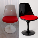 Sedia Tulip Plus girevole design Eero Saarinen in ABS LUCIDO con anima in metallo