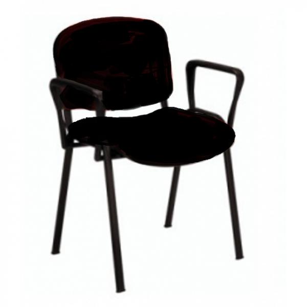Vendita sedie tessuto metallo sedia ufficio con braccioli for Sedia ufficio economica