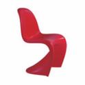 Sedia (chair) in ABS simil Panton in noleggio, BIANCO, ROSSO, NERO