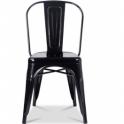 TOLIX - Sedia con braccioli in noleggio per bar in acciaio per casa, bar, pub, ristorante