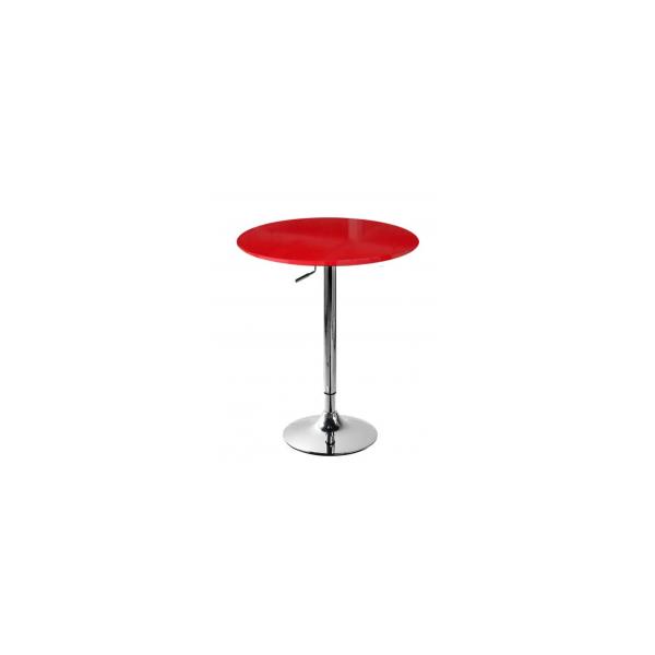 Tavolo gamba centrale altezza regolabile acciao cromato for Tavolini per ufficio