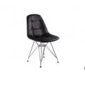 DSR P Eiffel chair Eames - Sedia imbottita e gambe in acciaio