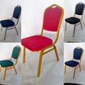 Noleggio sedia EVENT impilabile in tessuto telaio metallo dorato per conferenze, meeting, banchetti e catering