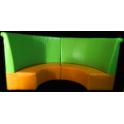 Colomba - Divanetto per bar e poltroncina Contract personalizzati per locali in ecopelle (pelle ecologica), tessuto