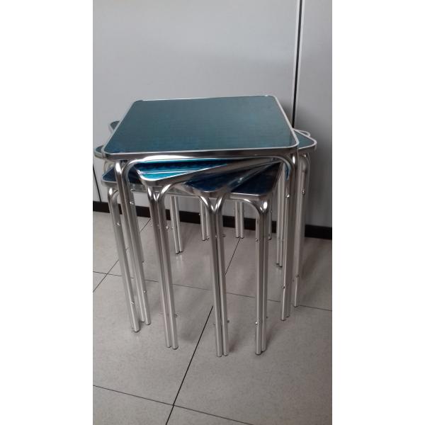 Gambe Per Tavoli In Alluminio.Tavolo Bar Quadrato In Alluminio Tavolino Per Esterno A 4 Piedi In