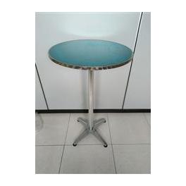 Tavolo bar in alluminio alto110cm tavolino alluminio per - Tavolini bar usati ...