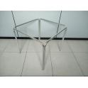 Struttura tavolo in alluminio H70cm a 4 gambe per TOP quadrati 60x60, 70x70, 80x80