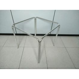 Gambe Per Tavoli In Alluminio.Struttura Tavolo In Alluminio H70cm A 4 Gambe Per Top Quadrati