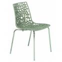GROOVE - Pila da 12 sedie impilabili in polipropilene gambe in acciaio cromato per casa bar ristorante hotel GRAND SOLEIL