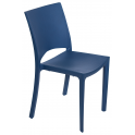 WOODY - Pila da 22 sedie impilabili polipropilene effetto legno bar, ristorante, giardino