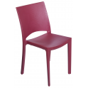 COCCO - Pila da 22 sedie impilabili polipropilene effetto finta pelle bar, ristorante, giardino