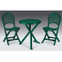 Pila da 8 Set Brio - tavolo tondo diam.65cm e due sedie in ecoresina per giardino, casa, bar, pizzeria Grand Soleil