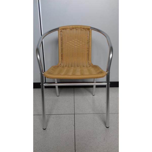 Sedia da esterno giardino bar sedie in alluminio e rattan for Sedie in alluminio