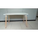 Wood P - Tavolo Eames a 4 gambe in faggio piano in MDF bianco casa albergo ristorante