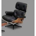 Eames - Poltrona design Eames Chaise Lounge Chair in vera pelle per casa salotto studio albergo