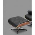 Eames - Ottomano design Eames Chaise Lounge Chair in vera pelle per casa salotto studio albergo