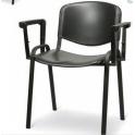 Giove 2 - Sedia con braccioli  impilabile in metallo e polipropilene per sala ufficio sala riunione hotel