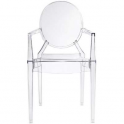 Edoardo Chair - Poltrona design Impilabile policarbonato simil Louis Ghost