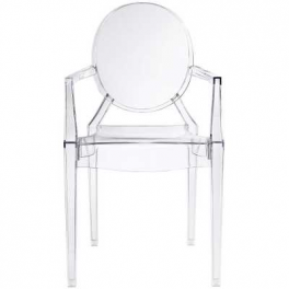 Edoardo Chair - Poltrona design Impilabile policarbonato simil Louis Ghost