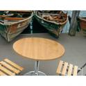 Saturno RWA H61/81 - Tavolo altezza regolabile gamba in acciaio cromato piano in werzalit da esterno BAR ALBERGO