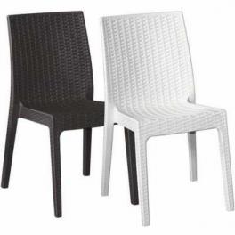 Pila Selene da 18 sedie Impilabile simil rattan bar ristorante hotel certificate per uso locali