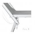 SANTORIN - Lettino professionale prendi sole in alluminio tre posizioni con tettuccio parasole, mare, spiaggia
