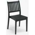 Pila da 18 sedie Minerva in polipropilene Impilabili bar ristorante hotel certificata per uso locali