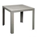 Pila da 30 tavoli Satu Rattan quadrati 80x80 simil rattan da esterno giardino bar ristorante certificati per uso locali