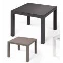 Pila da 23 tavoli modello Ares 90x90xH74cm polipropilene da esterno giardino bar ristorante certificato per uso locali