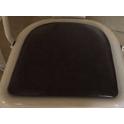 Cuscino Metal ecopelle Nera per la sedia stile industriale simil Tolix casa bar ristorante albergo