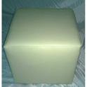 Liza Grigio chiaro - Pouf modello Liza quadrato in ecopelle colore grigio chiaro