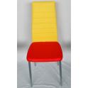 NUVOLA STOCK COLORI MISTI 2° scelta - Sedia metallo ecopelle colori spaiati, fine serie, difetti estetici, usato esposizione