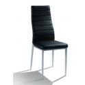 NUVOLA - Sedia in metallo ed ecopelle (pelle ecologica) per bar, ristorante, pub, pizzeria,  negozio, albergo, discoteca