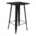 Metal A - Tavolo alto stile industriale simil Tolix 60x60xH108cm casa bar ristorante catering albergo