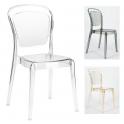 CRISTAL CHAIR - Sedia policarbonato trasparente impilabile per casa, bar, catering, ristorante, albergo, wedding