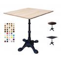 MARTE L4-VS – Tavolo gamba in ferro (ghisa) lavorata a 4 piedi,TOP in legno melamminico