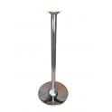 Saturno RHF109 - Base rotonda in acciaio cromato alta fissa 109cm x tavoli bar, ristorante, pub, albergo