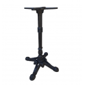 LION - base in alluminio e ghisa lavorata 4 piedi nera per piani tavolo rotondo o quadrato bar, ristorante, albergo