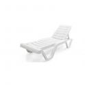 Lara Sun - Lettino singolo impilabile prendisole in resina 4 posizioni giardino spiaggia piscina