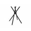 CROSS - Base in metallo design 4 gambe incrociate nera per piani tavolo rotondo o quadrato bar, ristorante, albergo