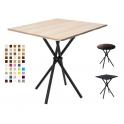 CROSS - Tavolo con 4 gambe incrociate in metallo e TOP in legno melamminico