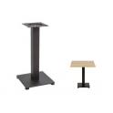 ENZO - base in alluminio e metallo moderna nera per piani tavolo rotondo o quadrato bar, ristorante, albergo