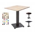 ENZO - Tavolo con gamba in metallo e TOP in legno melamminico