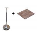 SATURNO RVHF110 - Tavolo verzalit alto fisso 110cm con gamba in acciaio cromato bar ristorante hotel