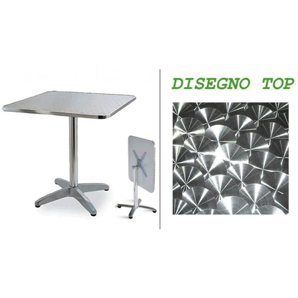 Tavolo in alluminio pieghevole da bar tavolino alluminio for Piani domestici di 2000 piedi quadrati