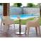 COCCOLONA SPED.GRATUITA - POLTRONA POLIPROPILENE IMPILABILE DA ESTERNO BAR RISTORANTE HOTEL SCAB DESIGN certificta