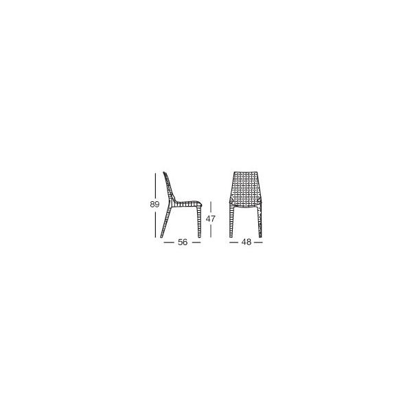 Sedia lucrezia contract bar sedie rattan esterno for Poltrone parrucchiere usate